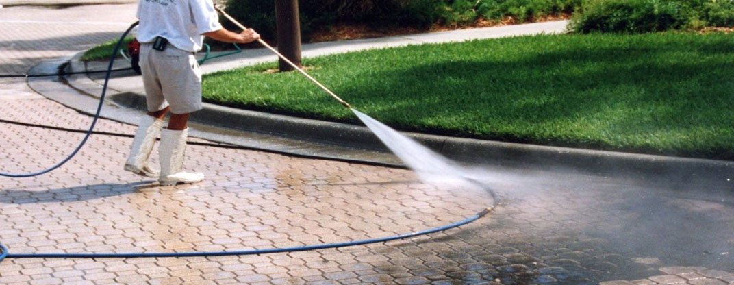 pressure washing driveways